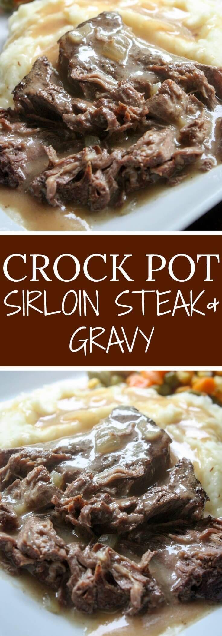 Healthy Cube Steak Slow Cooker Recipes  Slow Cooker Sirloin Steak and Gravy Recipe