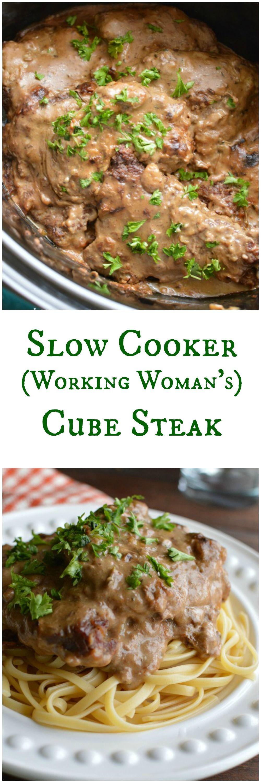 Healthy Cube Steak Slow Cooker Recipes  Slow Cooker Cube Steak in Mushroom Sauce Recipe