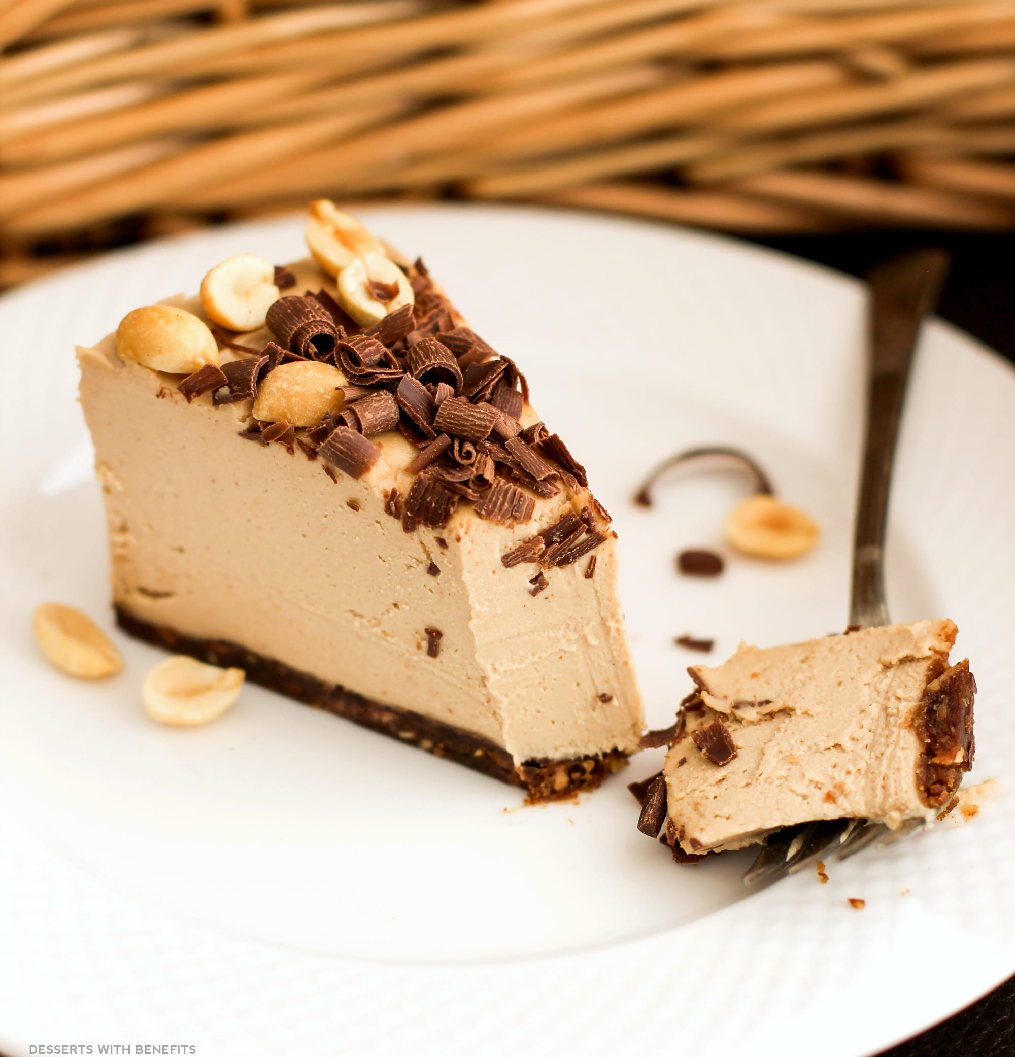 Healthy Dairy Free Desserts  Healthy Chocolate Peanut Butter Raw Cheesecake