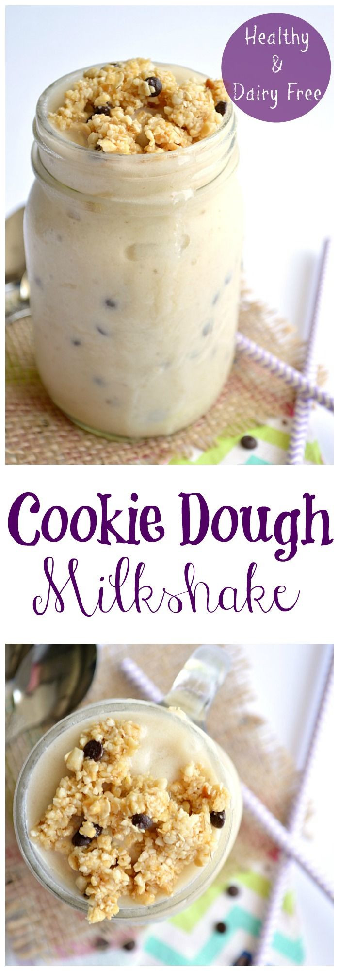 Healthy Dairy Free Desserts  Cookie Dough Milkshake Healthy & Dairy Free
