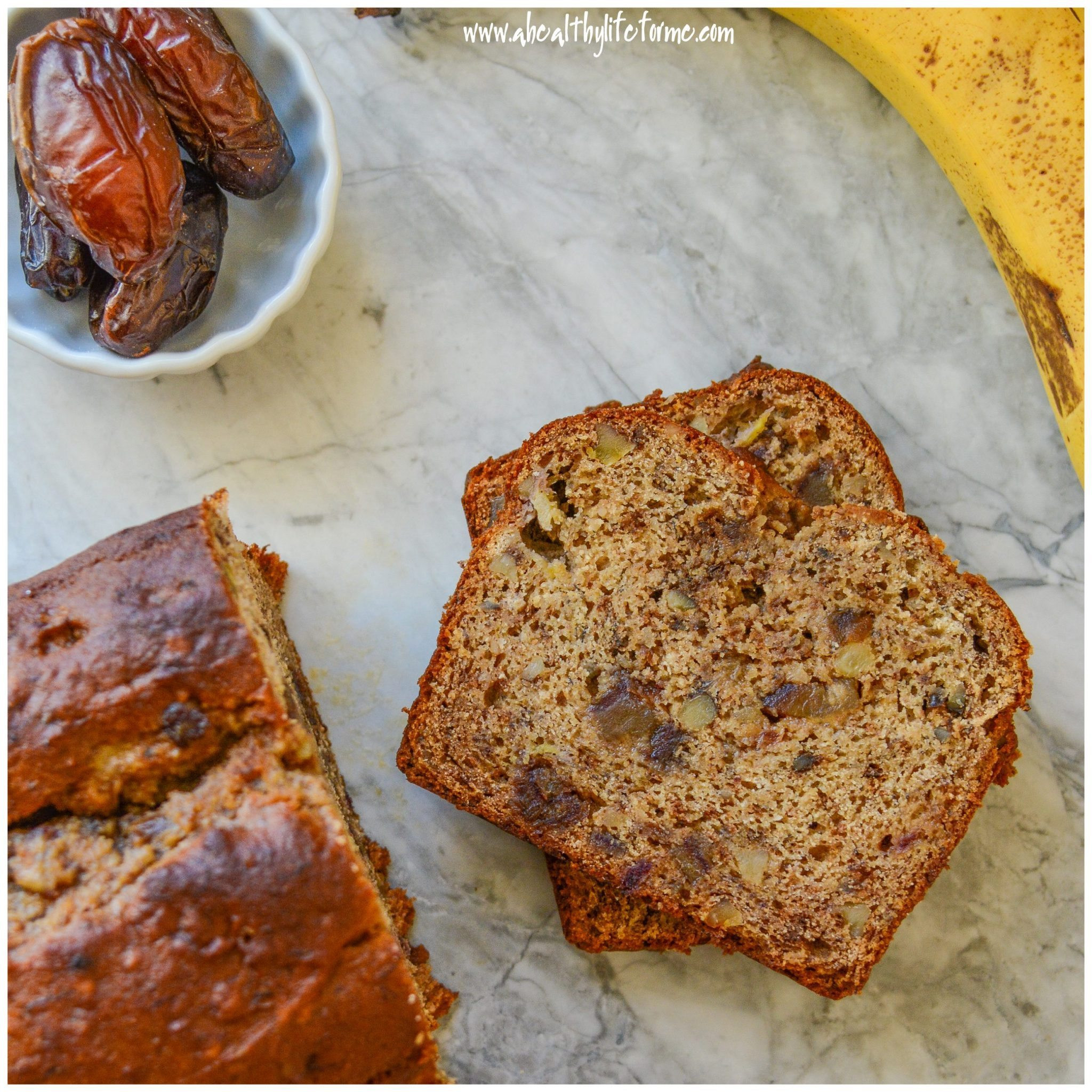 Healthy Date Bread Recipe  Gluten Free Banana Walnut Date Bread A Healthy Life For Me