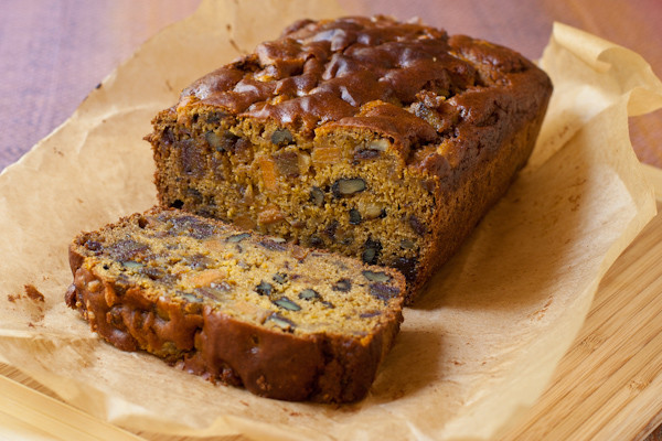 Healthy Date Bread Recipe  Persimmon bread Dates Nuts Gluten free