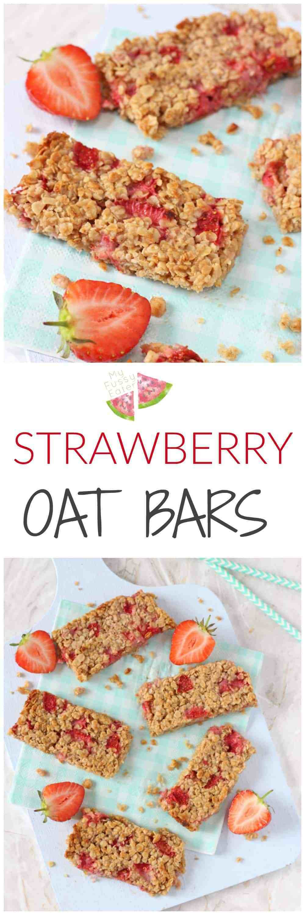 Healthy Delicious Snacks  Strawberry Oat Bars My Fussy Eater