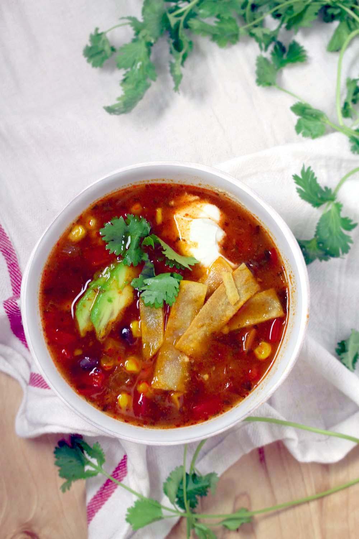 Healthy Delicious Soups  Healthy Ve arian Tortilla Soup