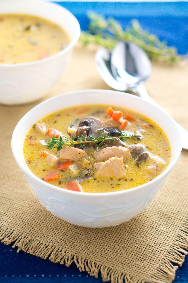 Healthy Delicious Soups  Creamy Chicken and Mushroom Soup