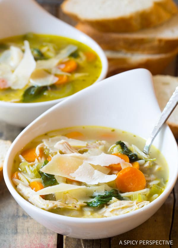 Healthy Delicious Soups  Italian Chicken Orzo Soup A Spicy Perspective