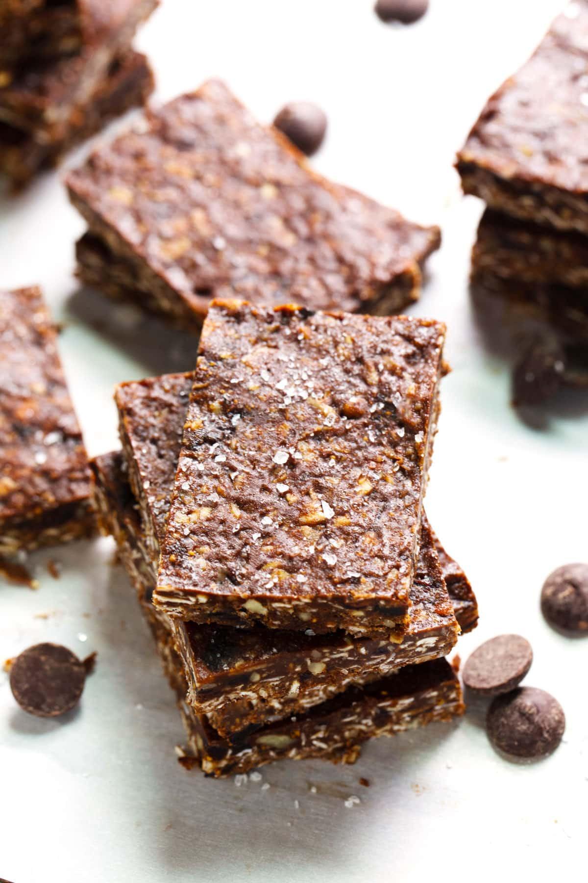 Healthy Dessert Bars  Healthy Sea Salt Dark Chocolate Bars Pinch of Yum
