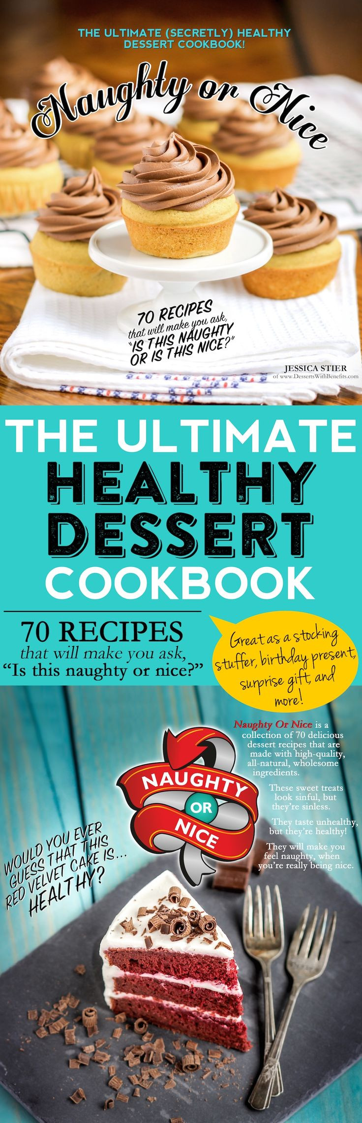 Healthy Dessert Cookbook  44 best images about Naughty or Nice [Cookbook] on