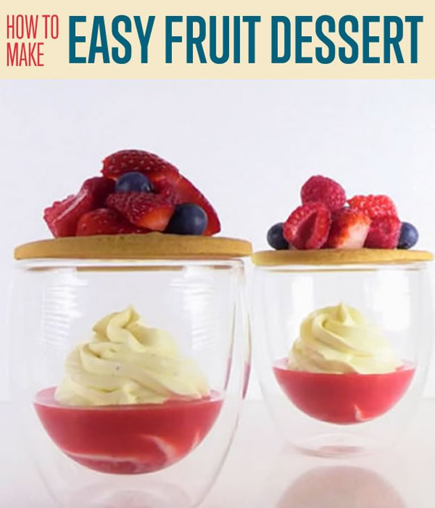 Healthy Desserts Easy to Make the 20 Best Ideas for How to Make An Easy Fruit Dessert Diy Projects Craft Ideas