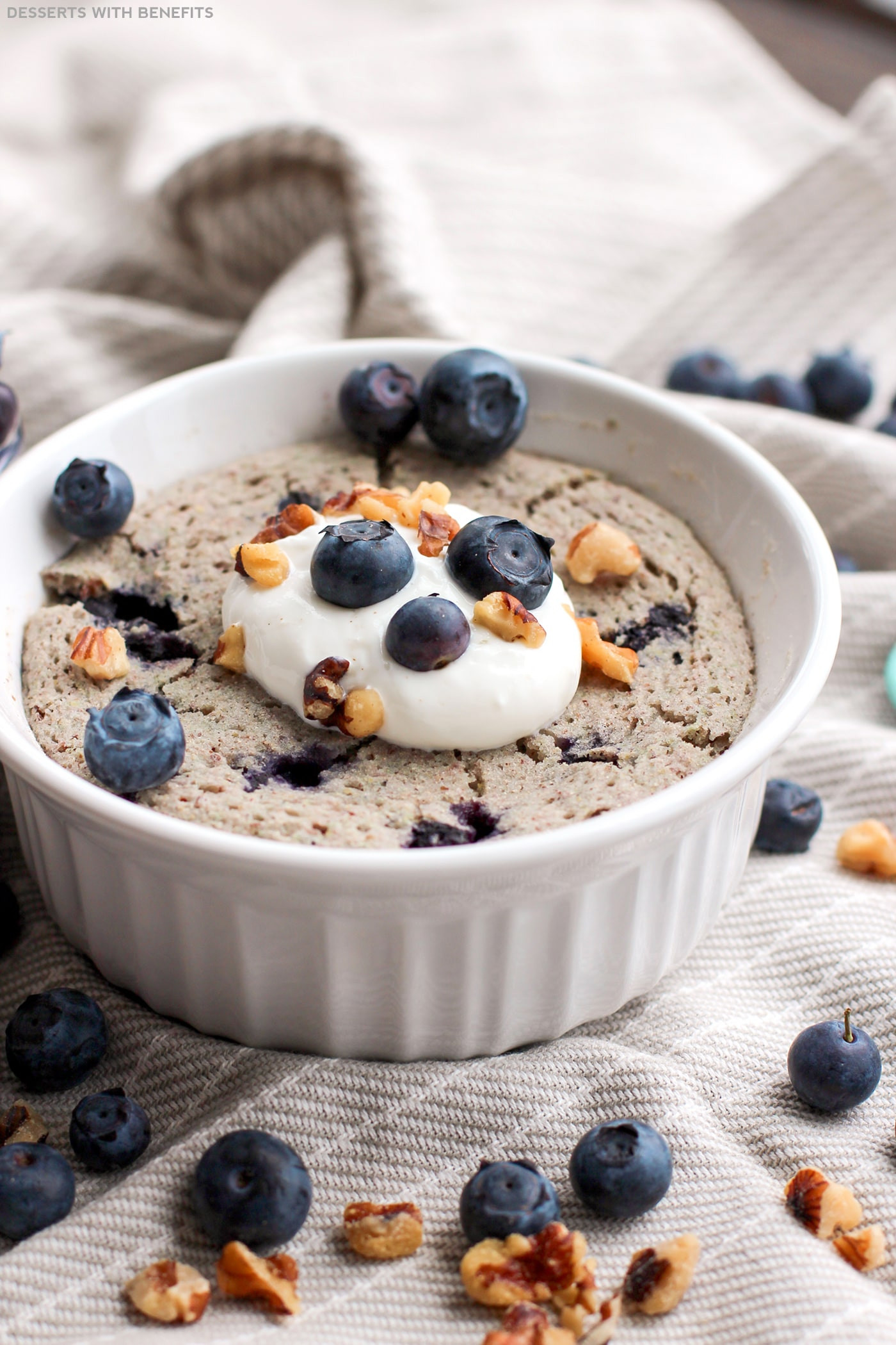 Healthy Desserts For One  Healthy Single Serving Blueberry Microwave Muffin
