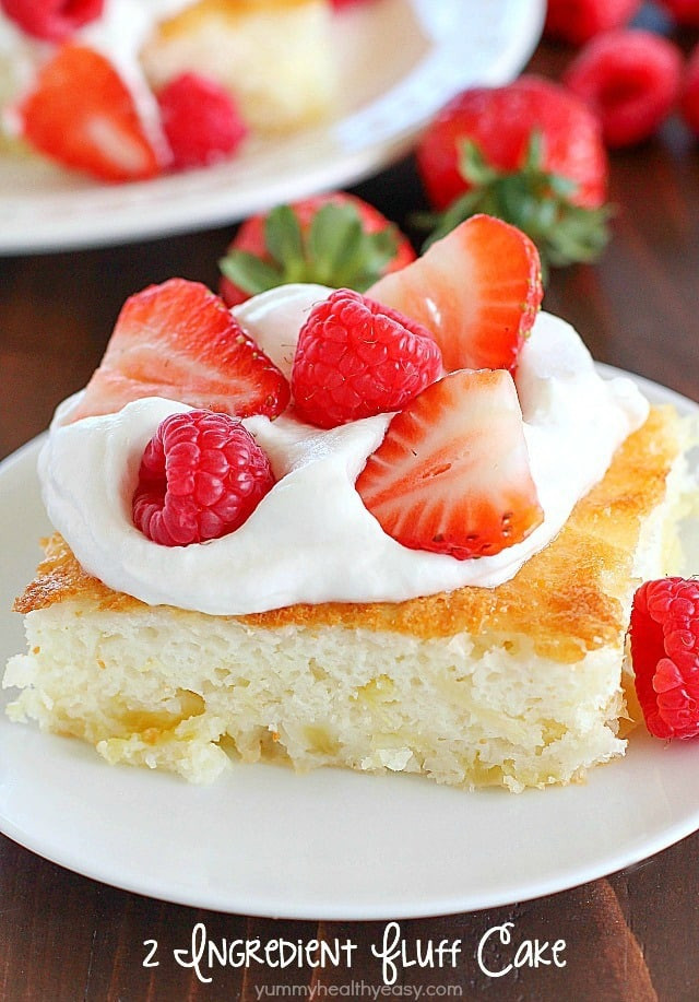 Healthy Desserts For Two  2 Ingre nt Fluff Cake Yummy Healthy Easy