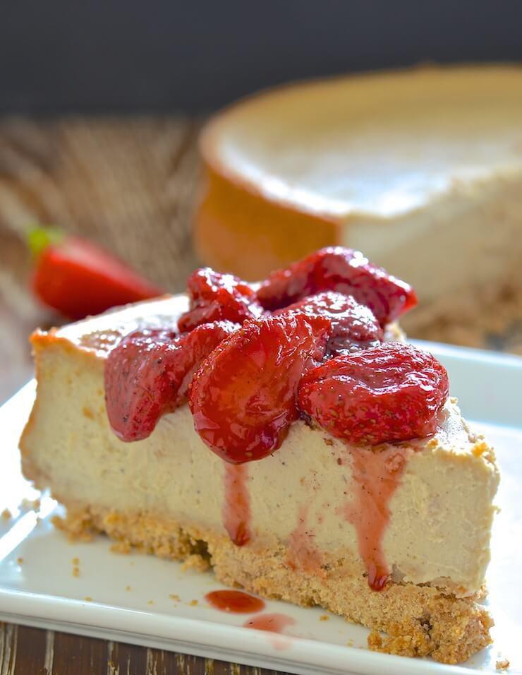 Healthy Desserts Nyc  Vegan Baked New York Cheesecake