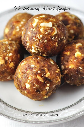 Healthy Desserts With Dates  DATES AND NUTS LADOO A HEALTHY DESSERT IN 3 MINS Anto