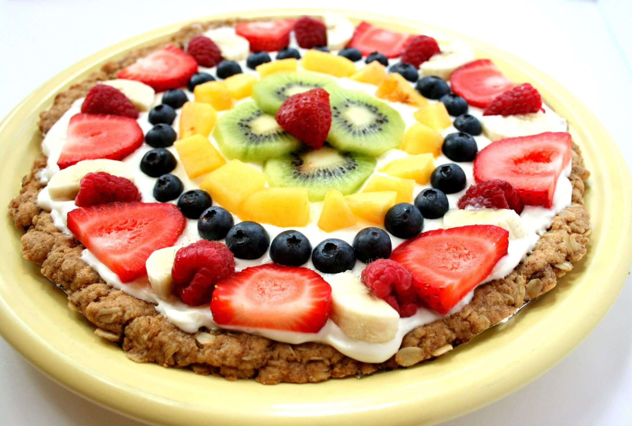 Healthy Desserts With Fruit  Healthy Fruit Pizza