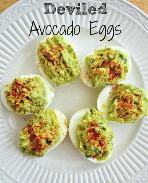 Healthy Deviled Eggs With Avocado  Deviled Avocado Eggs