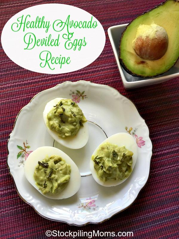 Healthy Deviled Eggs With Avocado  Healthy Avocado Deviled Eggs Recipe
