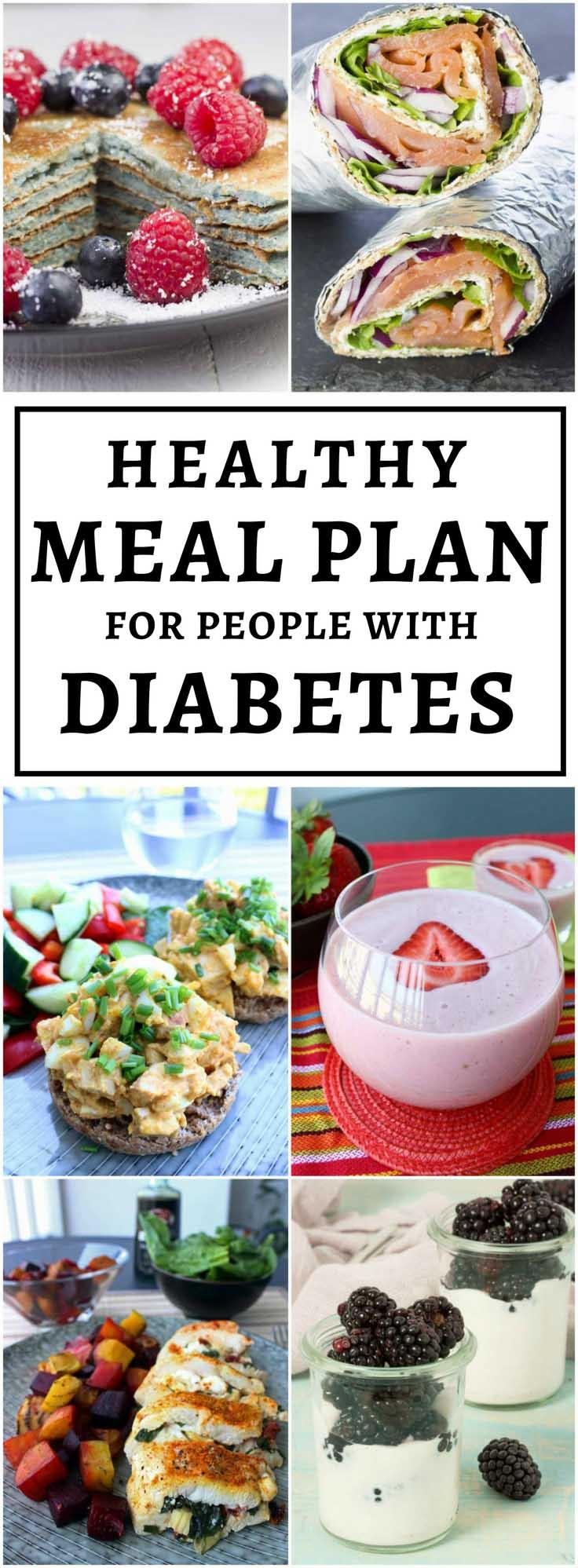 Healthy Diabetic Dinners  Diabetic Meal Plan Example