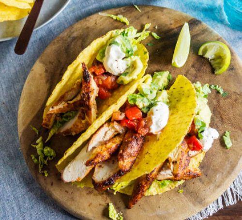 Healthy Dinner For Kids  Lighter chicken tacos recipe