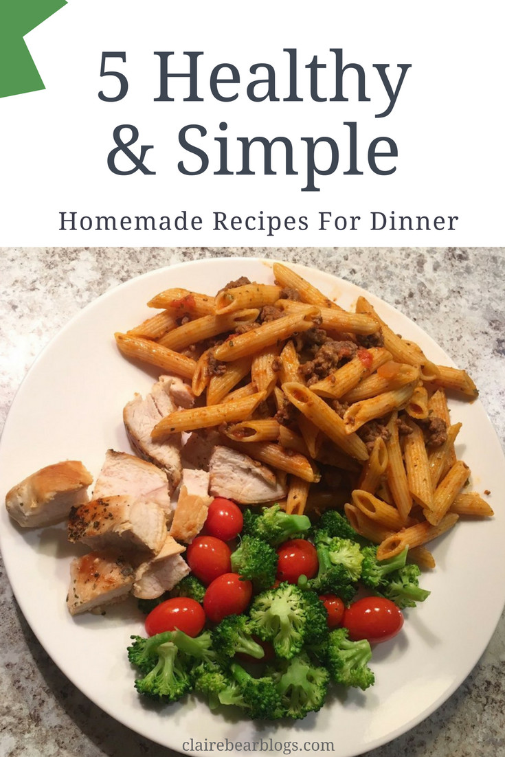 Healthy Dinner For One  5 Healthy & Quick Dinner Recipes Clairebearblogs
