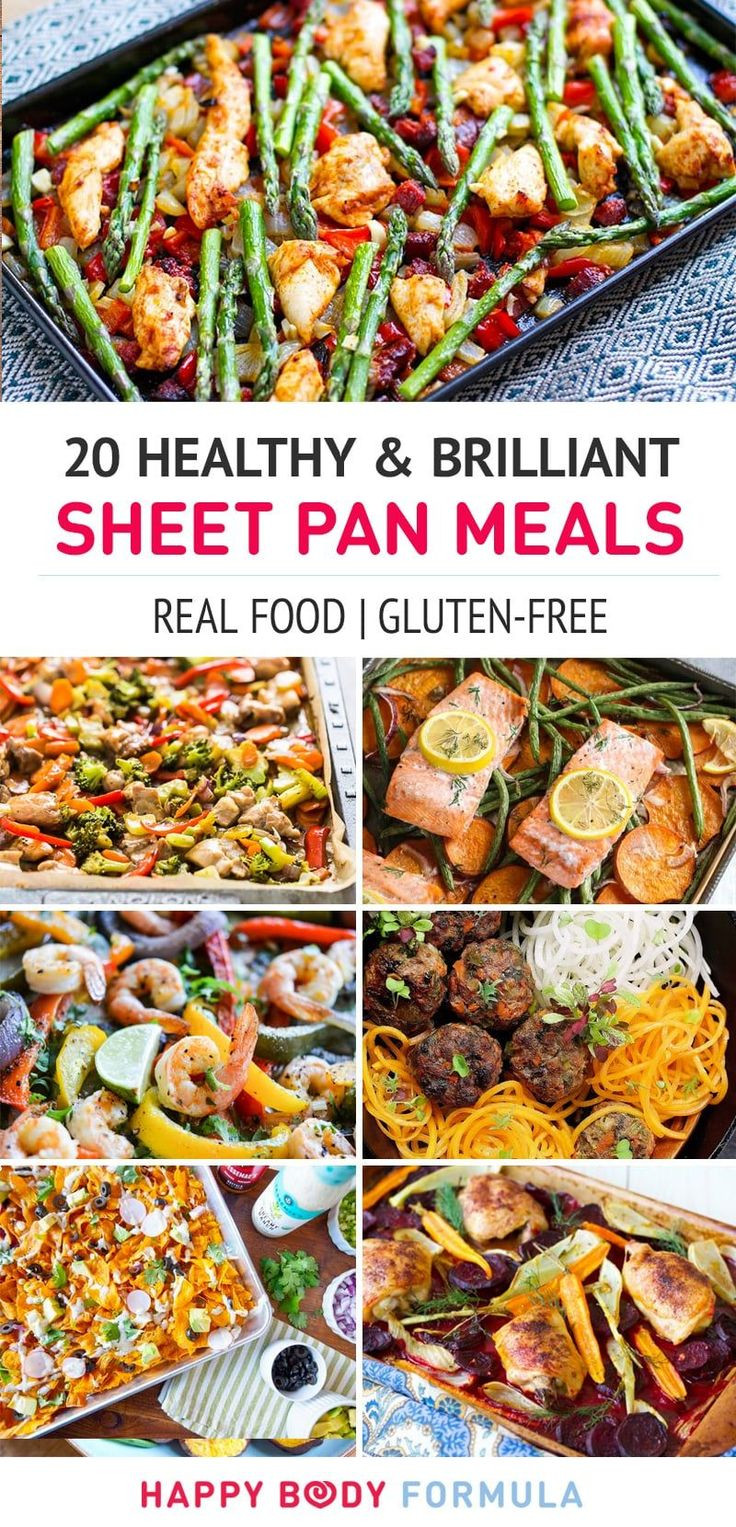 Healthy Dinner For One  20 Brilliant & Healthy Sheet Pan Meals Eats