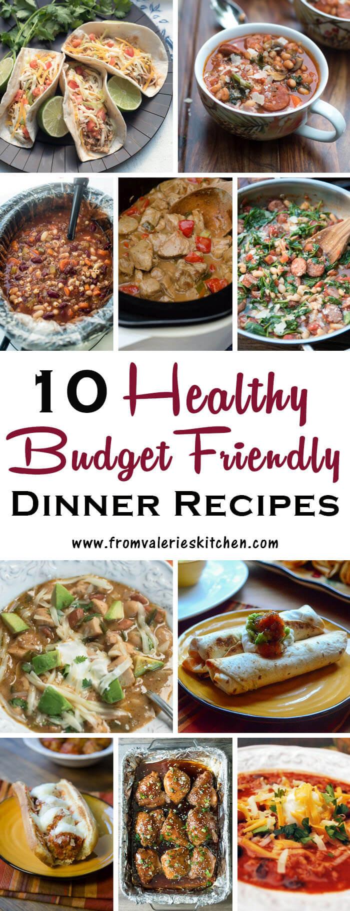 Healthy Dinner Ideas Pinterest  10 Healthy Dinner Recipes on a Bud Valerie s Kitchen