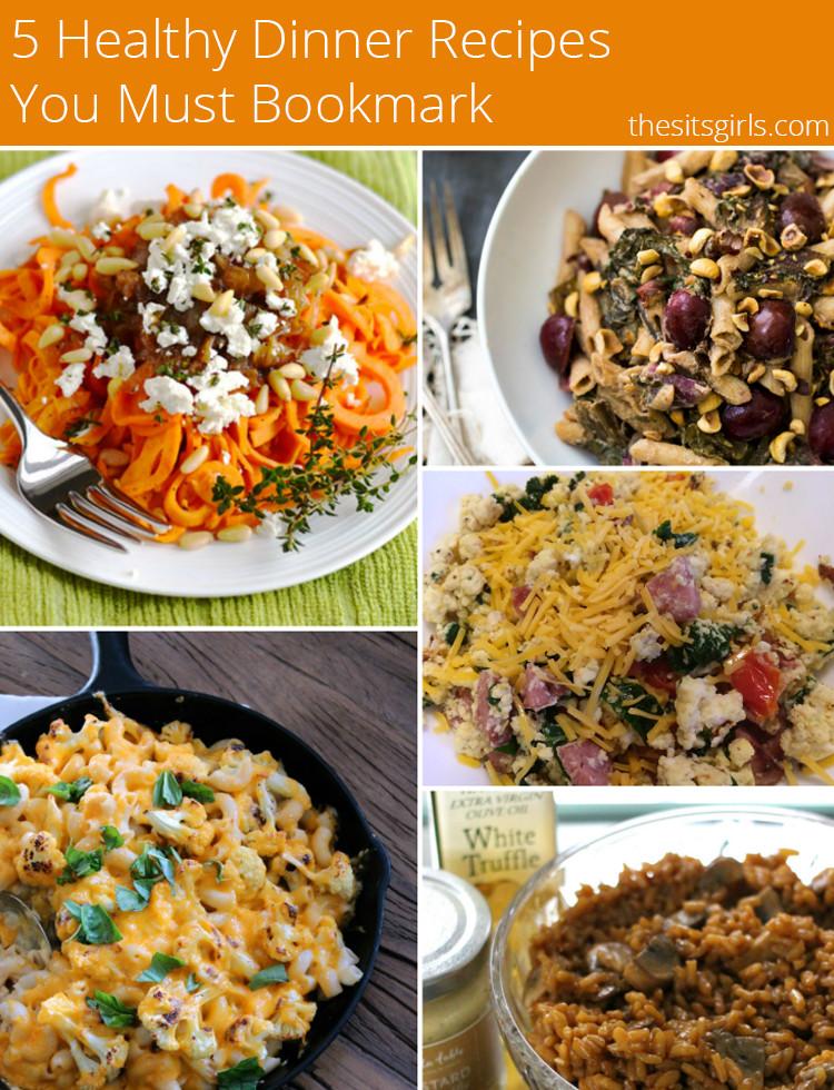 Healthy Dinner Ideas Pinterest  5 Healthy Dinner Recipes
