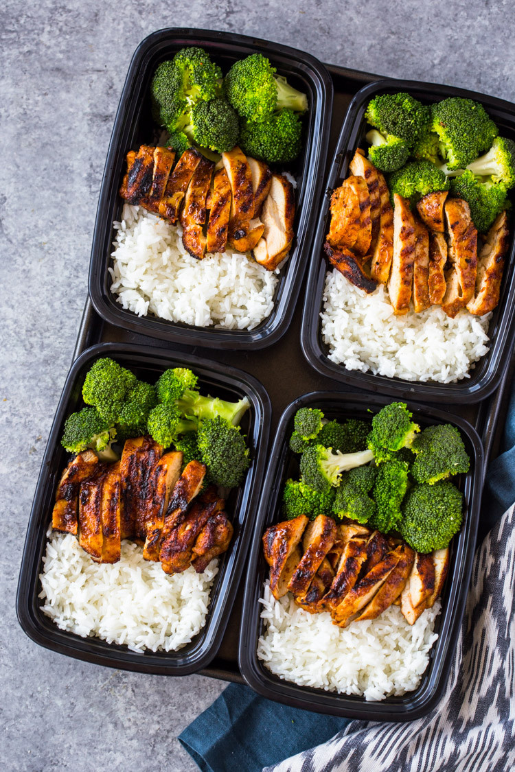 Healthy Dinner Meal Prep  20 Minute Meal Prep Chicken Rice and Broccoli