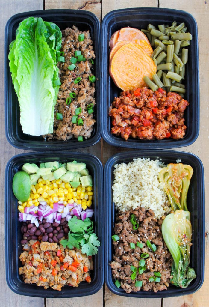 Healthy Dinner Meal Prep  Easy Ground Turkey Meal Prep Bowls 4 Ways Smile Sandwich