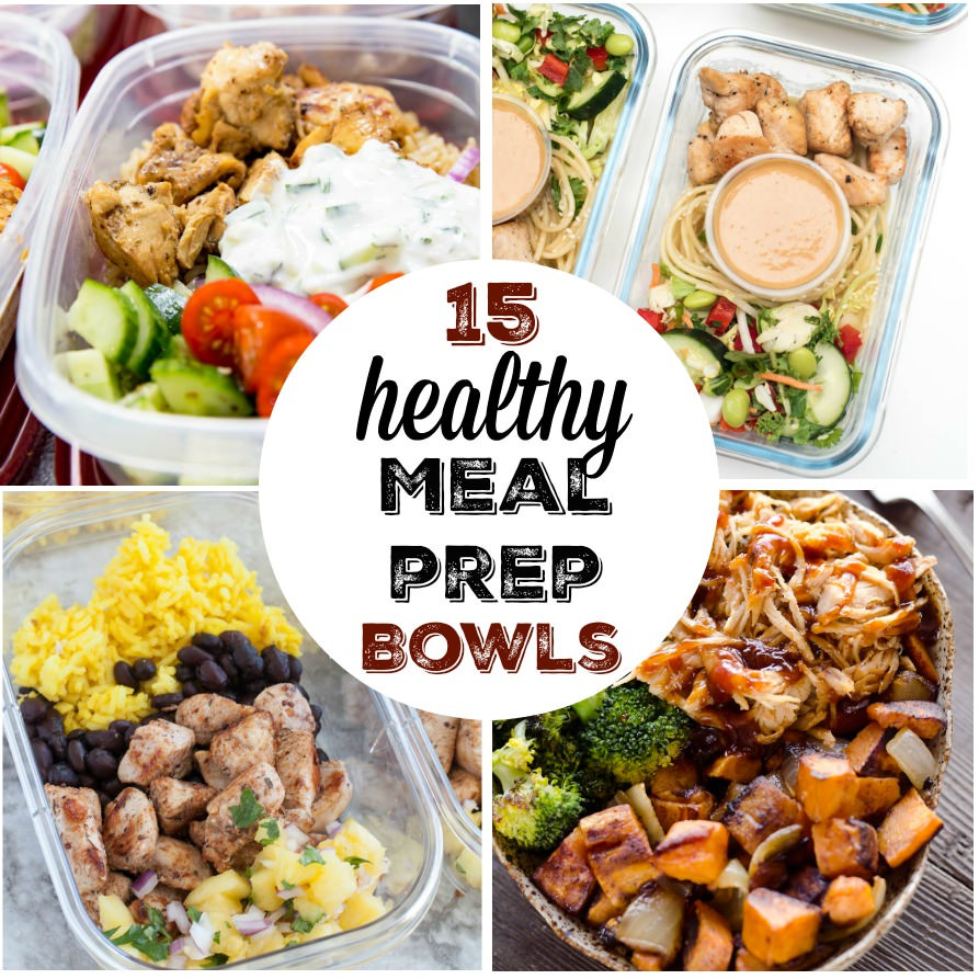 Healthy Dinner Meal Prep  15 healthy and easy meal prep bowl recipes My Mommy Style