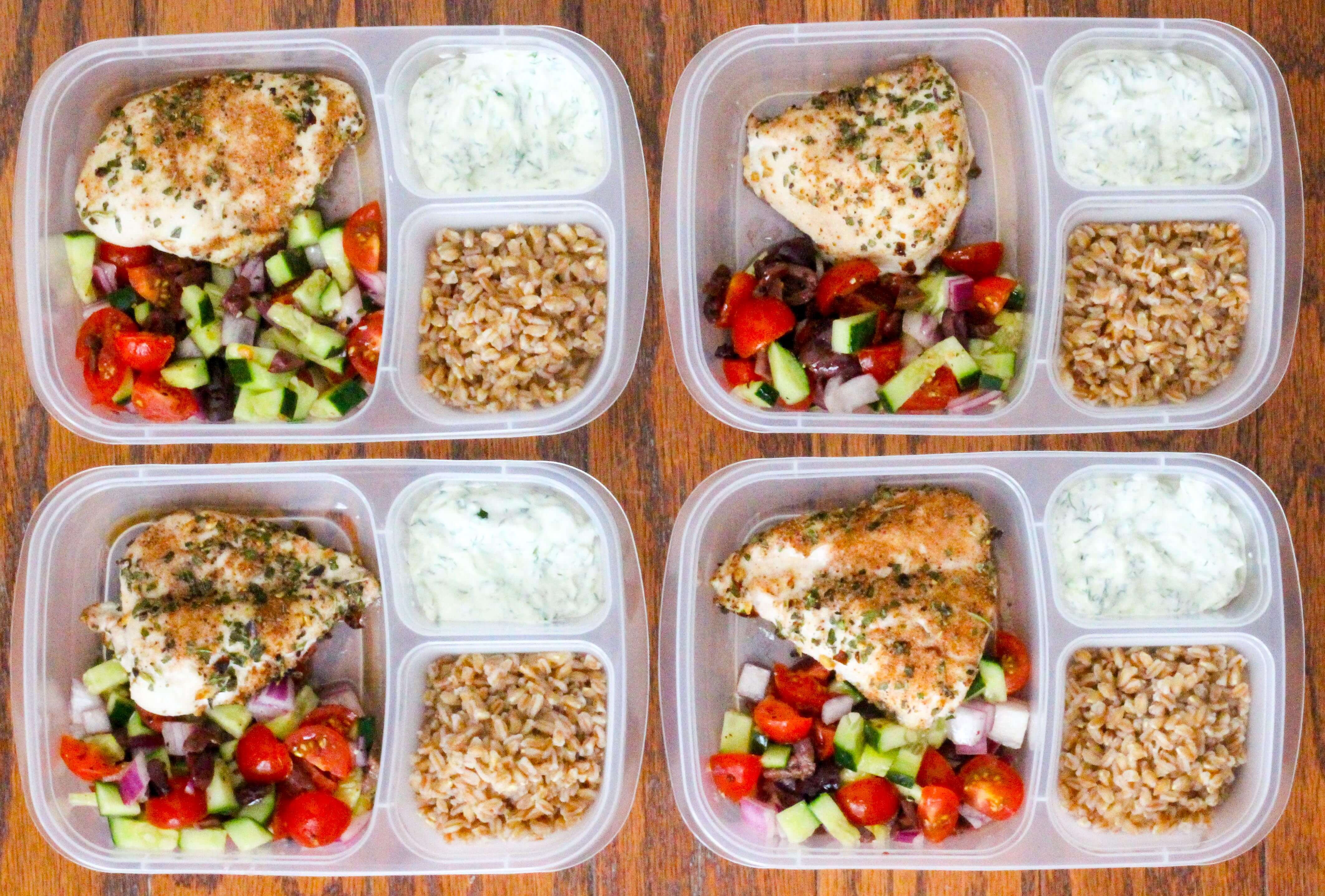 Healthy Dinner Meal Prep  Healthy Greek Chicken Meal Prep Bowls Ally s Cooking