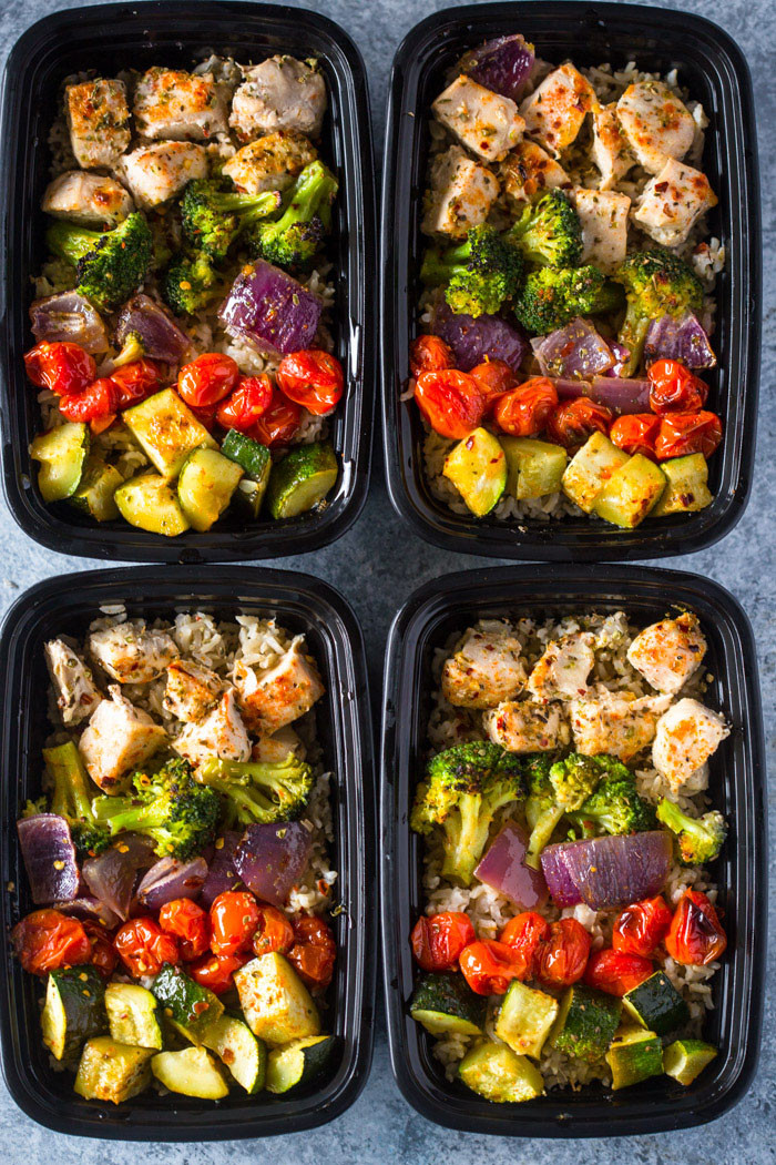 Healthy Dinner Meal Prep  Meal Prep – Healthy Roasted Chicken and Veggies