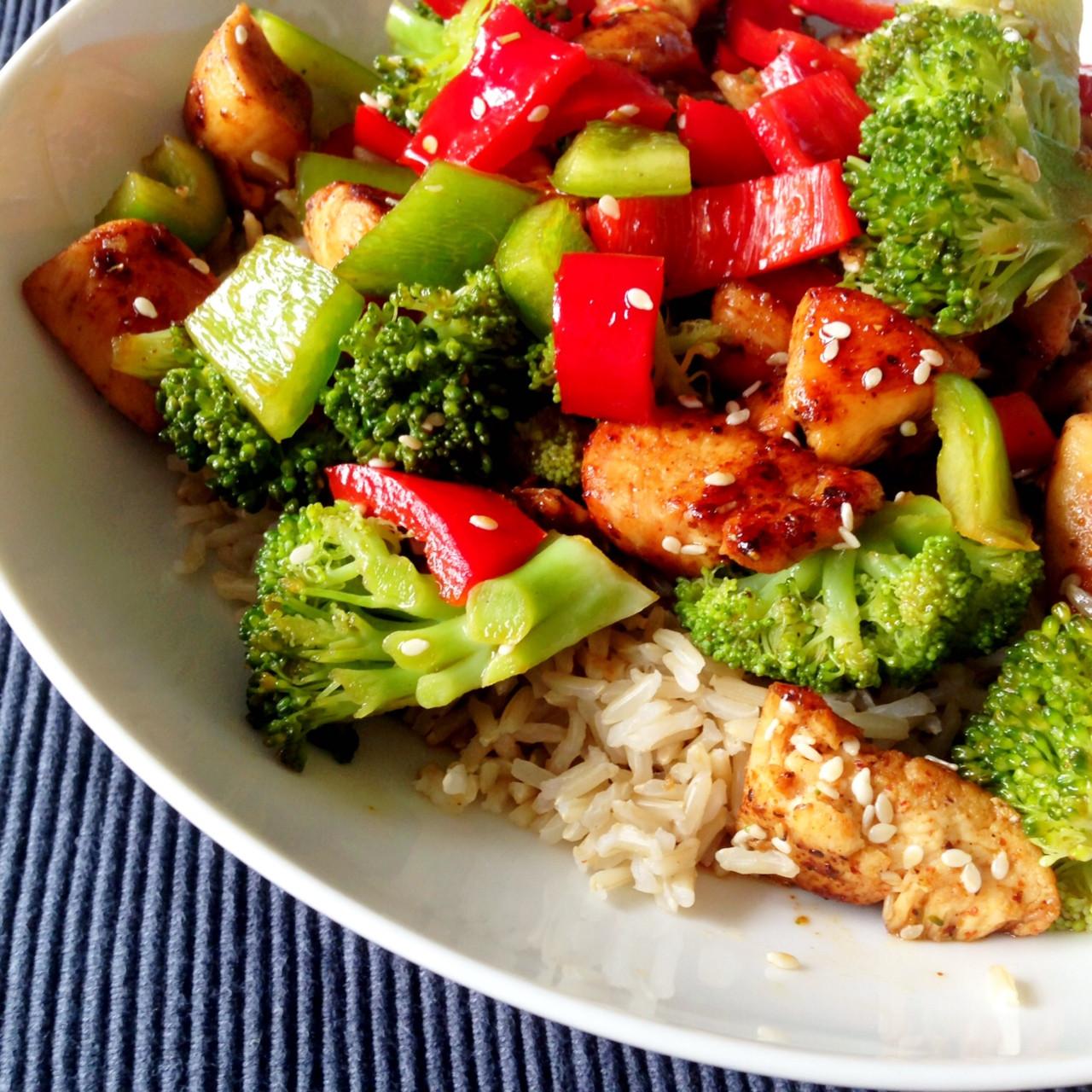 Healthy Dinner Recipe  Healthy Living in Heels Dinner recipe Sesame Chicken