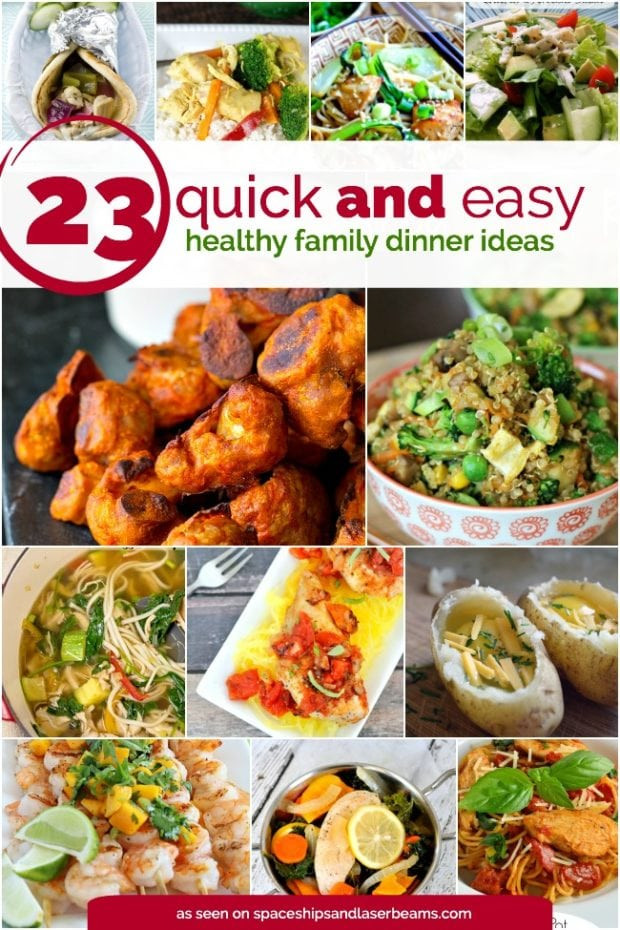 Healthy Dinner Recipes Easy  23 Quick and Easy Healthy Family Dinner Ideas Spaceships