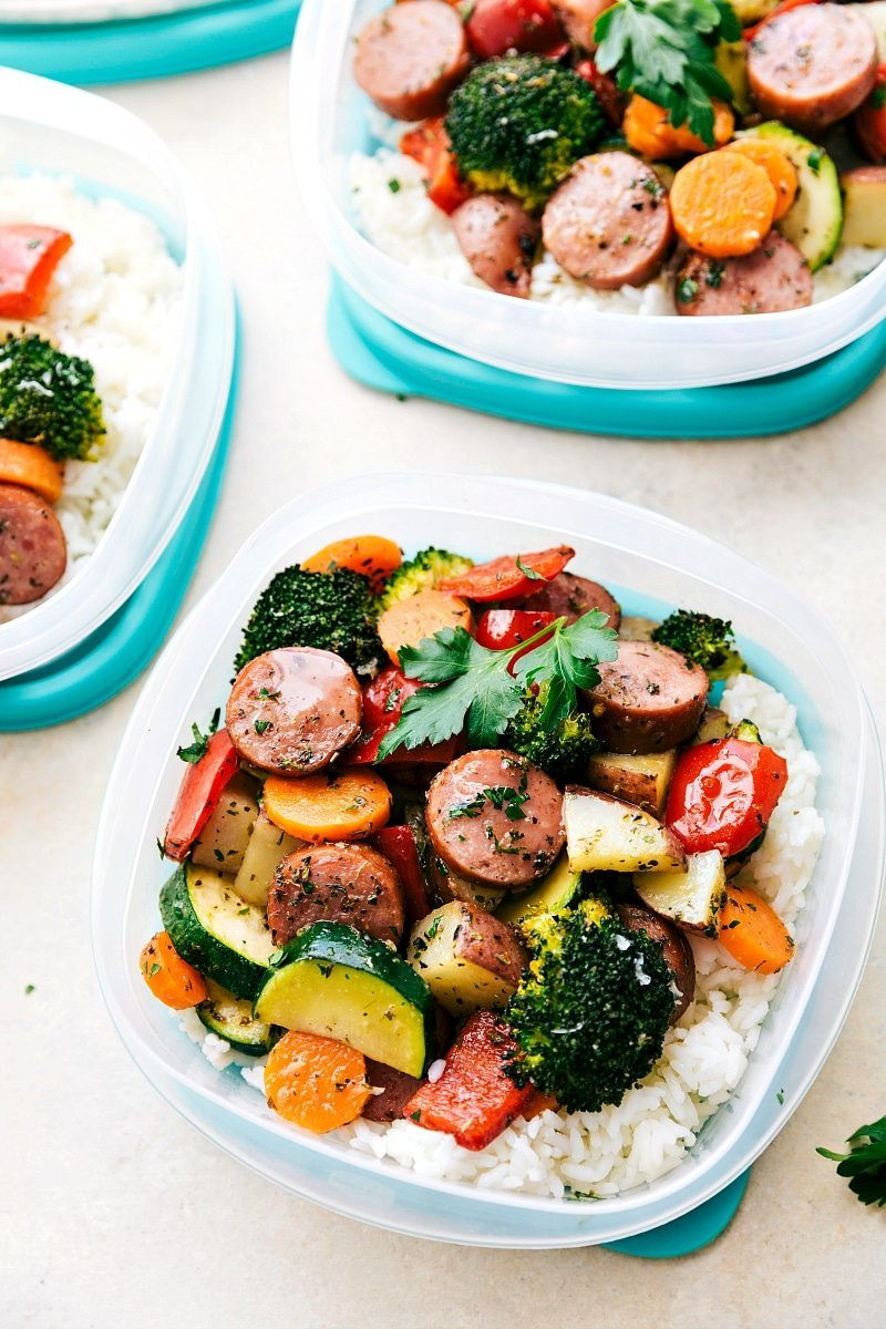 Healthy Dinner Recipes Easy  e Pan Healthy Italian Sausage & Veggies