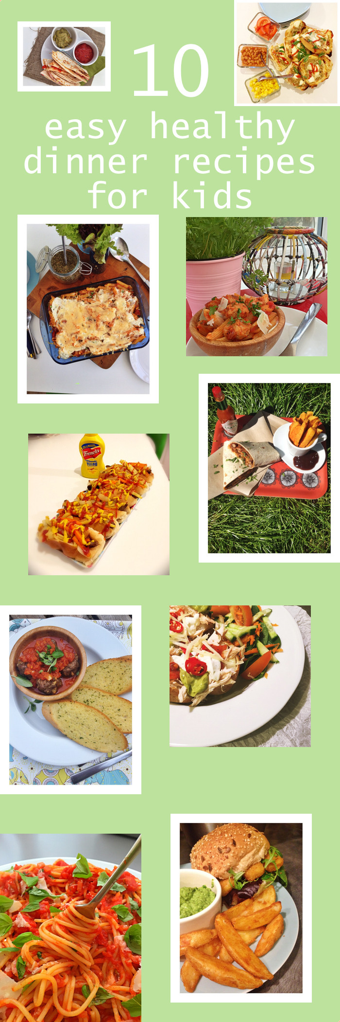 Healthy Dinner Recipes For Kids  10 easy healthy dinner recipes for kids