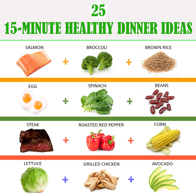 Healthy Dinner Recipes To Lose Weight  25 Simple 15 Min Healthy Dinner Ideas For Weight Loss