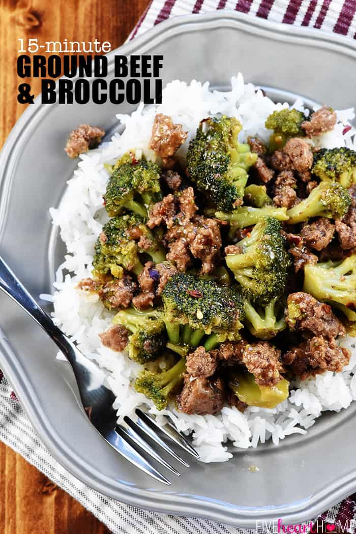 Healthy Dinner Recipes With Ground Beef  Ground Beef and Broccoli