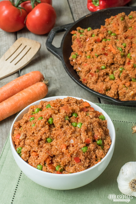 Healthy Dinner Recipes With Ground Turkey  Savory Ground Turkey & Quinoa e Pot Dinner Recipe