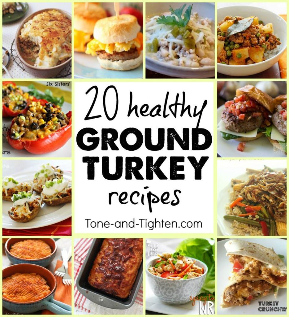 Healthy Dinner Recipes With Ground Turkey  ground turkey