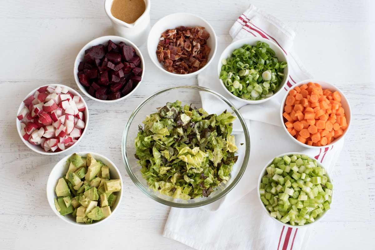 Healthy Dinner Salads  Healthy Chopped Salad Dijon Vinaigrette A Side of Sweet