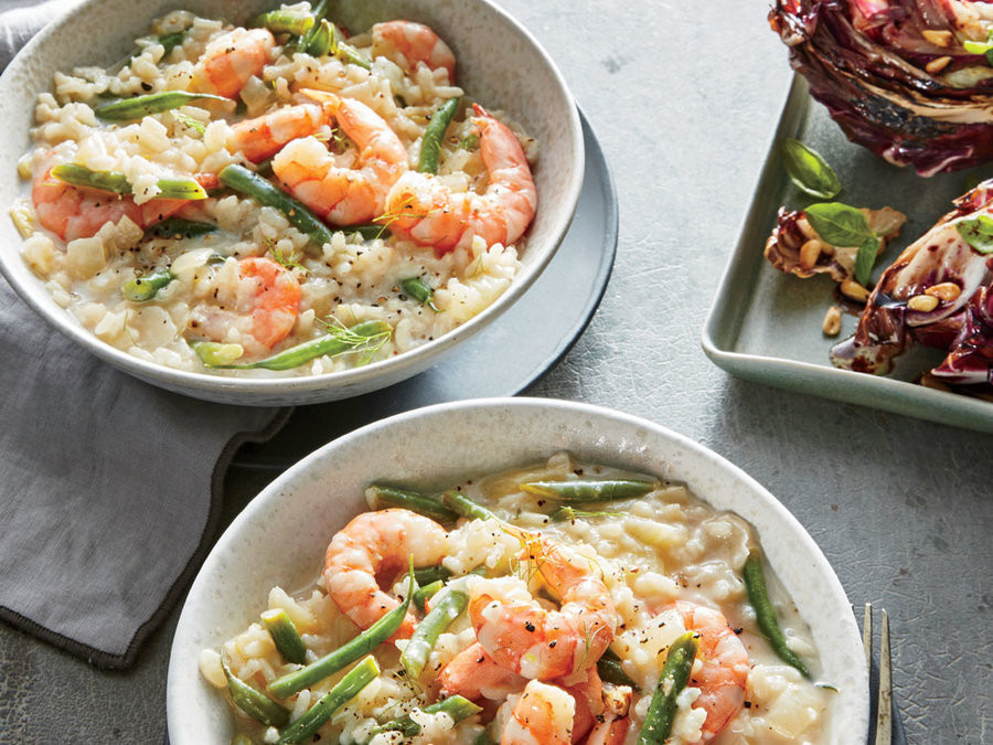 Healthy Dinner Tonight  Lemon Herb Risotto with Shrimp and Haricots Verts Dinner
