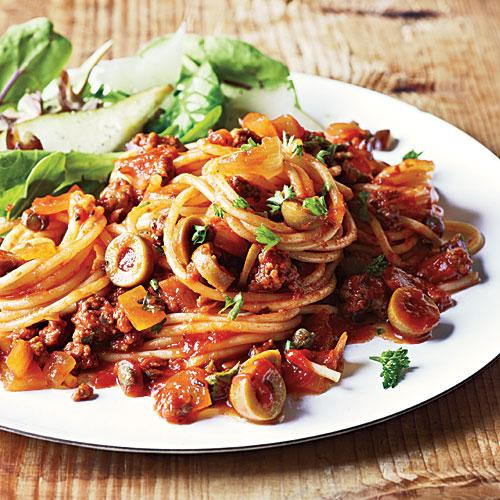 Healthy Dinner Tonight  Spanish Spaghetti with Olives Dinner Tonight Pasta
