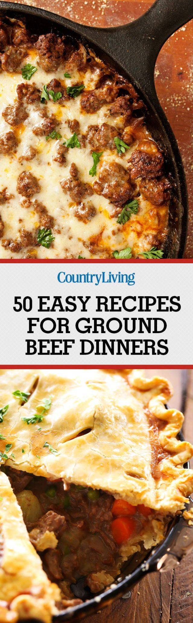 Healthy Dinner With Ground Beef  100 Ground Beef Recipes on Pinterest