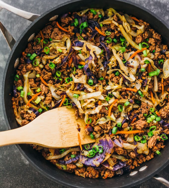 Healthy Dinner With Ground Beef  Ground Beef and Cabbage Stir Fry