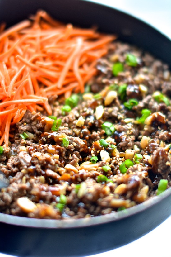 Healthy Dinner With Ground Beef  Healthy Asian Lettuce Wraps Apple of My Eye