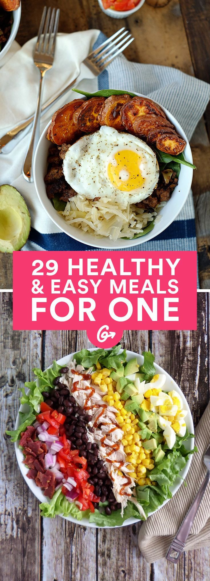 Healthy Dinners For One Person  Cooking for e 25 Insanely Easy Healthy Meals You Can
