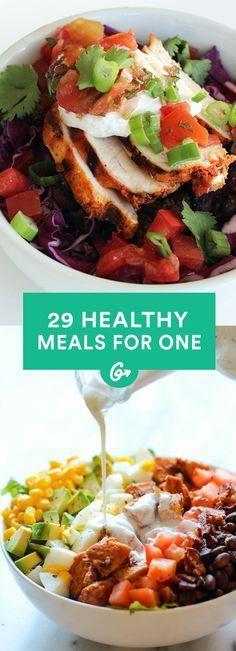 Healthy Dinners For One Person  Single Serve Meals on Pinterest