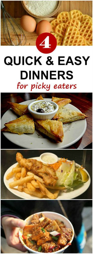 Healthy Dinners For Picky Eaters  Four Quick and Easy Dinner Ideas for Picky Eaters