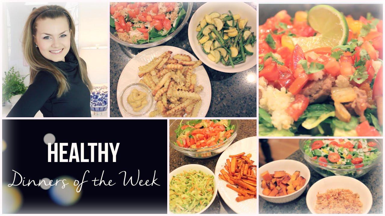 Healthy Dinners For The Week  Easy Healthy Dinner Ideas Dinners of the Week Vegan