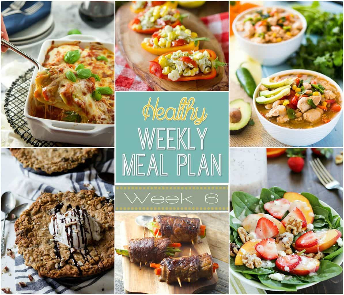 Healthy Dinners For The Week  Healthy Weekly Meal Plan 6 Yummy Healthy Easy